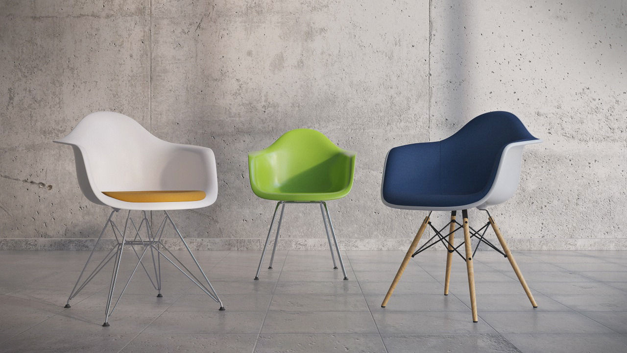Eames Plastic Armchair DAX ambiance 2